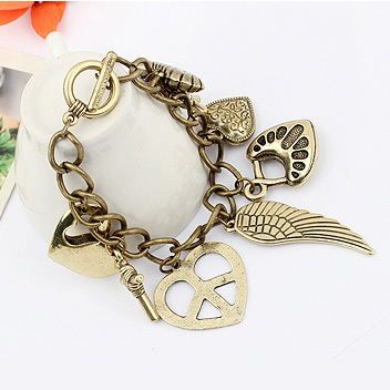Wholesale Factory Outlet Price Bracelet fashion vintage love cross personality bracelet 0152(China (Mainland))