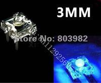 1000PCS wholesale Blue 3mm led Piranha square led diode 460-475NM 15-20mA