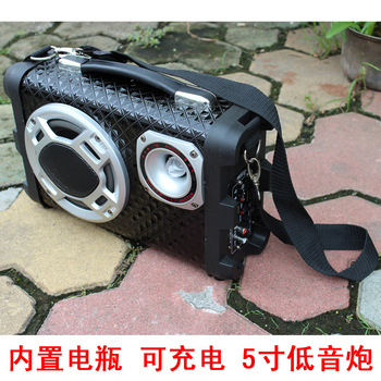 5 12v 220v outdoor car subwoofer can charge type built-in battery portable usb flash drive sd car audio