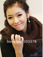 Free Shipping 2012 Autumn Winter Fashion knitted repeat encircle very warm woolen yarn women winter scarf