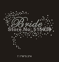 DHL Free shipping 45pcs/Lot iron on rhinestone transfers Brides