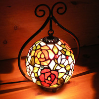 TIFFANY lamp ofhead pendant light lamp cover tieyi base small table lamp