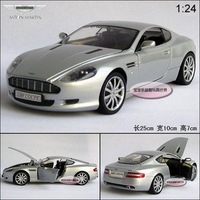 New AstonMartin DB9 1:24 Alloy Diecast Car Model Toy Collection With Box Silver B114b