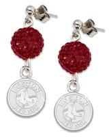 free shipping beautiful sexy red sports shamballa earrings