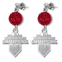 free shipping metal charm with red shamballa earrings sports jewelry