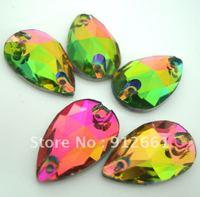 Free shipping(108pcs/lot)like SW-3230 CRYSTAL Vitrail Medium 11*18mm  drop SEW-ON  diamond button