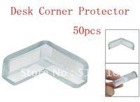 50pcs Clear Blue Soft Plastic Desk Corner Safety Pad Protector