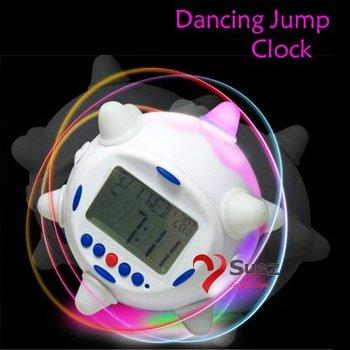 Amazing item ! mini Musical dancing robot alarm clock Thermometer Music Dancing Jump Clock