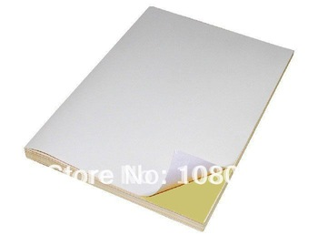 A4 self adhesive Label paper Blank Matte white for Laser Inkjet Printer, 100 Sheets A4 Sticky Paper