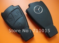 Best price Mercedes Benz 3 button remote key blank Auto key shell case only with free shipping(China (Mainland))