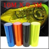 "392"" x 12"" 1Roll Car Lights sticker Volume Auto Car Sticker Smoke Fog Light HeadLight Taillight Tint Vinyl Film Sheet"