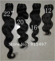 10'' 12'' 14'' 16''  100% indian virgin remy hair weave natural color top quality in stock DHL free shipping