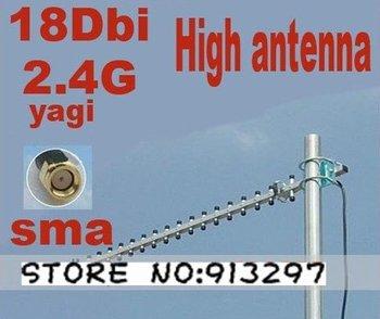 Direct Marketing Wifi 3G Yagi Outdoor 2400MHz Directional High Gain Antenna 18dbi Connector-RP-SMA Free shipping