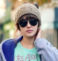 free shipping wholesale 10pcs/lot Autumn and winter fashion twisted knitted hat knitted headband hair band female