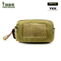 Free Soldier Outdoor Edc Bag Accessories Bag (Saco) Mini Waist Pack Mobile Phone Bag Cordura fs-08 Black/ACU/Muddy Size:13*8*5CM