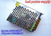 DC12V 3.5A switching power supply, Input AC110-220V working, 42W constant voltage led drive