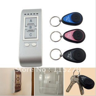 Wireless key finder electronic key anti-lost the device alarm phone valuables search 3 receiver(China (Mainland))
