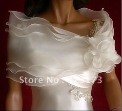 Organza 3 Tiered Wedding Bridal Party Wrap Shawl Jacket Cape Shrug Bolero Short Coat Retail/Wholesale(China (Mainland))