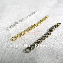 300Pcs 3MM/ W (Silver/Gold/Bronze) Metal Extended Chains Link Chain DIY Jewelry Findings Accessorries Components(China (Mainland))