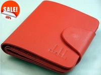 Free shipping, wholesale& retail, 2012 fashion Men short red Wallet Pockets, Card Clutch Bifold Purse ,factory price#D526-71
