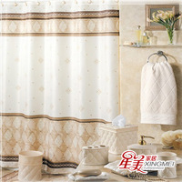 Free Shipping Waterproof Mildewproof Polyester Shower Curtain Bathroom Curtain 1.8m X 1.8m With 12pcs Ring-nibuer