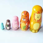 Free Shipping wooden Russian Matryoshka Doll nesting dolls christmas gift kindergarten educational toys(China (Mainland))