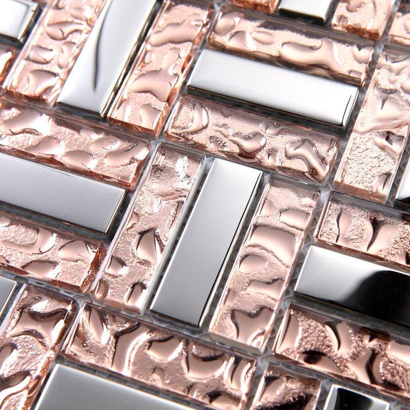 Popular copper tile backsplash buy cheap copper tile - Mirror mosaic tile backsplash ...