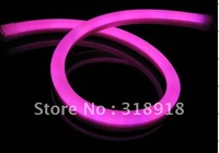 Free Shipping, LED Neon flex light, 80LEDs/M,Size: W 14*H26mm,Pink. Waterproof. LED neon Tubes, LED neon rope light
