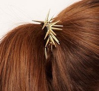MInimum order $20 for free shipping 2015  restore ancient ways metal elastic rivet punk rope  circle hair accessories