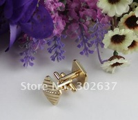 1Set rhinestone Repp square gold plate cufflinks #22253