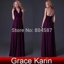 Envío gratis !! La dama de honor Grace Karin Stock cabestro vestido de gala de la bola del vestido de noche formal , vestidos de graduación 8 Tamaño , CL3435(China (Mainland))