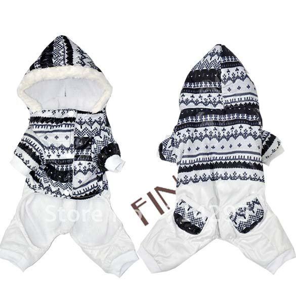 Одежда для собак Pet Dog Clothes Soft Snowflake Jumpsuit Hoodie Size S M L XL 7954