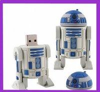 5pcs/lot  wholesale Free Shipping  STAR WAR R2-D2 robot plastic genuine 4GB/8GB/16GB/32GB usb drive pen drive usb flash drive