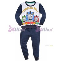 Hot sale Children clothes set winter warm velvet baby boys kids clothing sets long sleeves T-shirt+ pants children suit