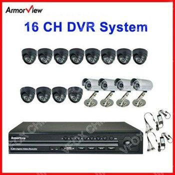 16 CH Channel CCTV Surveillance DVR System CCTV System Night Vision IR 12 Indoor Dome & 4 Outdoor Bullet Camera 16CH DVR KIT