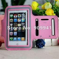 10pcs X Wholesale Adjusting Sport Gym Armband Case for Apple iPhone 5 Workout Cover Free shipping(China (Mainland))