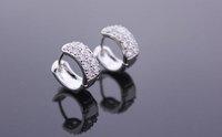 The Korean fashion popular the zirconium Umbilicaria buckle AAA zircon inlaid jewelry wholesale E88007 Zircon earrings