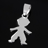 10pcs lot men's High polished fashion Stainless Steel 16*21MM little boy pendant, Thanksgiving ,Christmas gifts