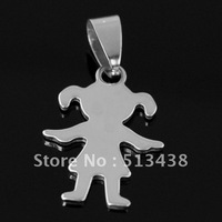10pcs lot unisex High polished lovely Stainless Steel 18*25MM little girls pendant, birthday ,Thanksgiving ,Christmas gifts
