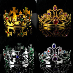 free shipping 15pcs/lot Cos hair accessory queen of the first ring crown princess head fo dancing party or masquerade(China (Mainland))