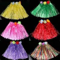 free shipping wholesale 10pcs/lot Elastic waist dance hula skirt child clothes set 30-40