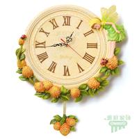 Fashion angel wall clock pocket watch wall clock modern mute