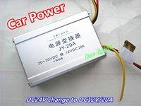 Bus/ Passenger car negative booster power, DC24V change to DC12V 20A power supply, 240W car  Video surveillance power