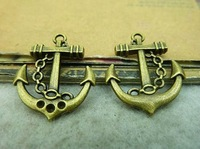 30pcs Fashion Jewelry Charms Vintage Bronze Metal 20*24mm Anchor Jewelry Pendants Charms Findings 3046