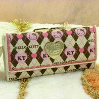 Hello kitty wallet HELLO KITTY wallet cartoon purses long design wallet
