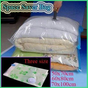 Large Space Saver Saving Storage Bag Vacuum Seal Compressed Organizer 3 Size New[210327]