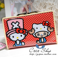 Hello kitty cartoon wallet HELLO KITTY medium-long wallet women's