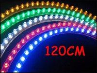 120 Led 12V Great Wall PVC Strip Car Strip Lights Flexible Light Bulb White/Blue/Red/Green/Yellow 120CM