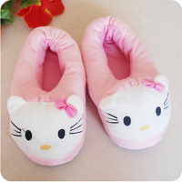 HELLO KITTY thermal slippers hello kitty plush full cotton-padded slippers household shoes plush warm shoes
