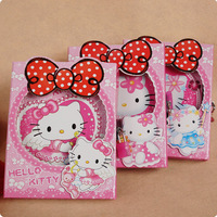 Cartoon hello kitty belt bow lockable notepad notebook diary